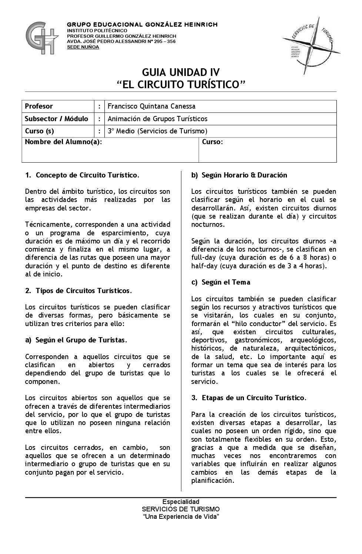 Circuito Y Servicios : Circuitos turÍsticos by francisco quintana canessa issuu