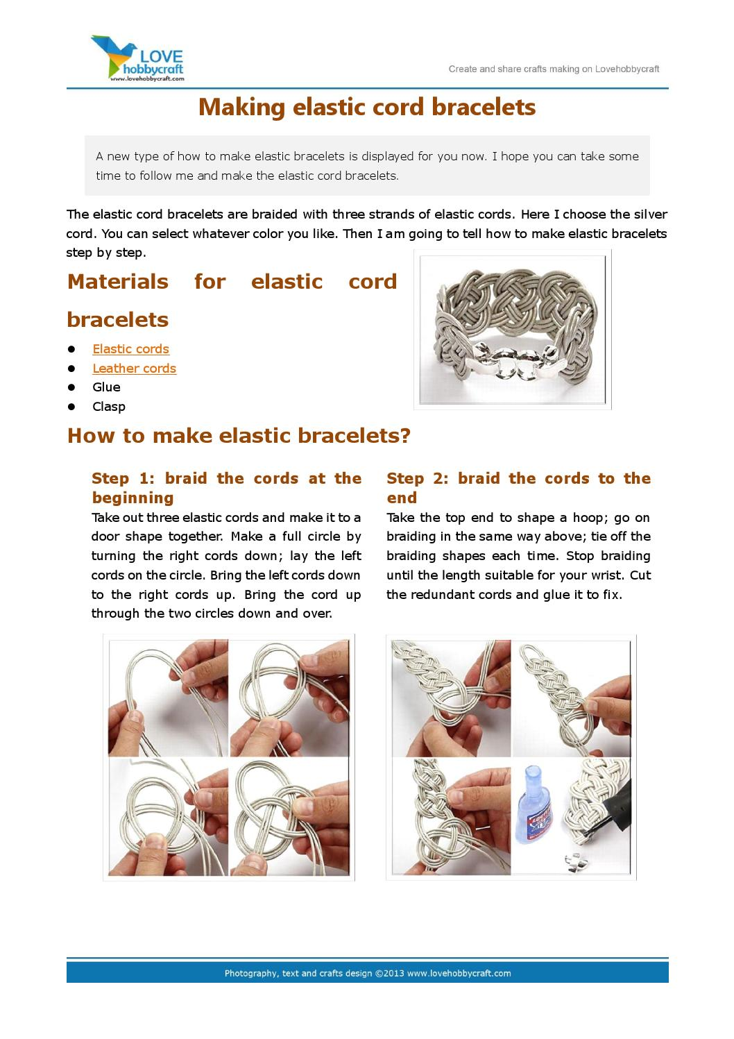 Making Elastic Cord Bracelets By Green Ada Issuu