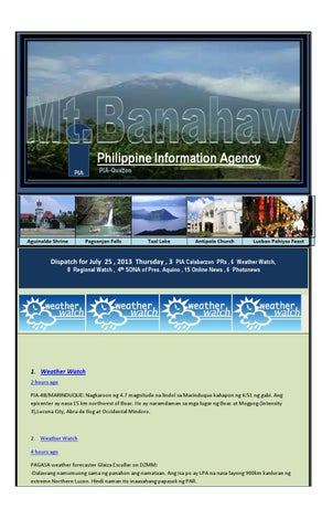 dispatch for july 25 2013 thursday 3 pia calabarzon