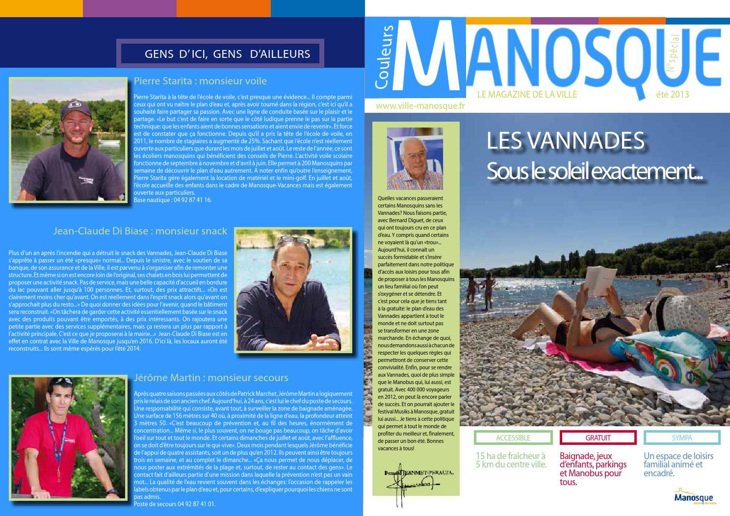couleurs manosque sp cial vannades by mairie de manosque service communication issuu. Black Bedroom Furniture Sets. Home Design Ideas