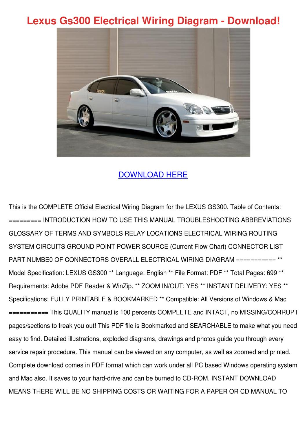 Lexus Gs300 Electrical Wiring Diagram Downloa By