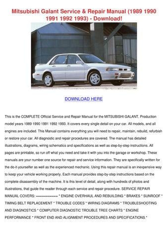 mitsubishi galant service repair manual 1989 by clarabromley issuu rh issuu com Mitsubishi Eclipse 1999 Mitsubishi Galant