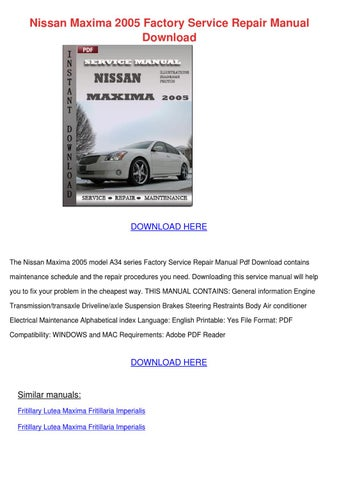 2011 nissan pathfinder factory service manual download