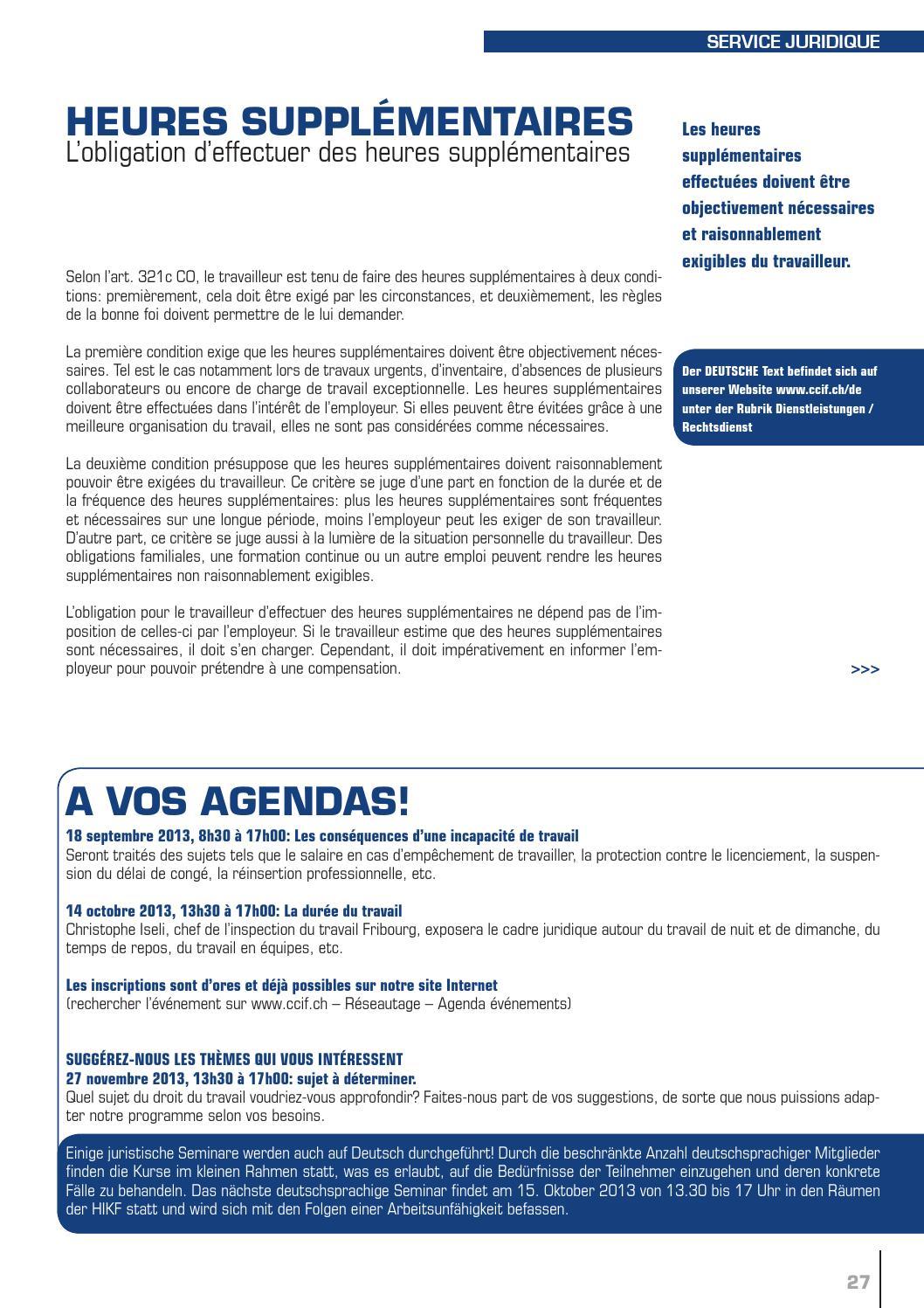 Echo juin 2013 by chambre de commerce et d 39 industrie du for Chambre de commerce fribourg