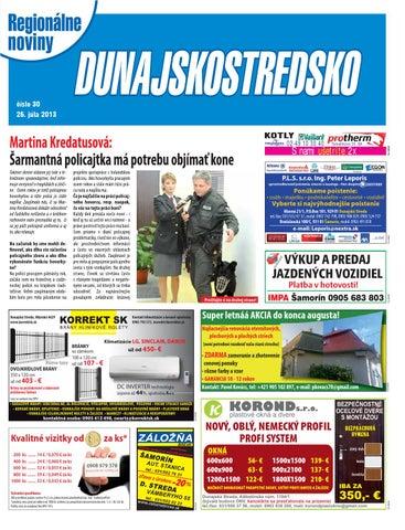 29deabf74 Dunajskostredsko 13-30 by dunajskostredsko dunajskostredsko - issuu