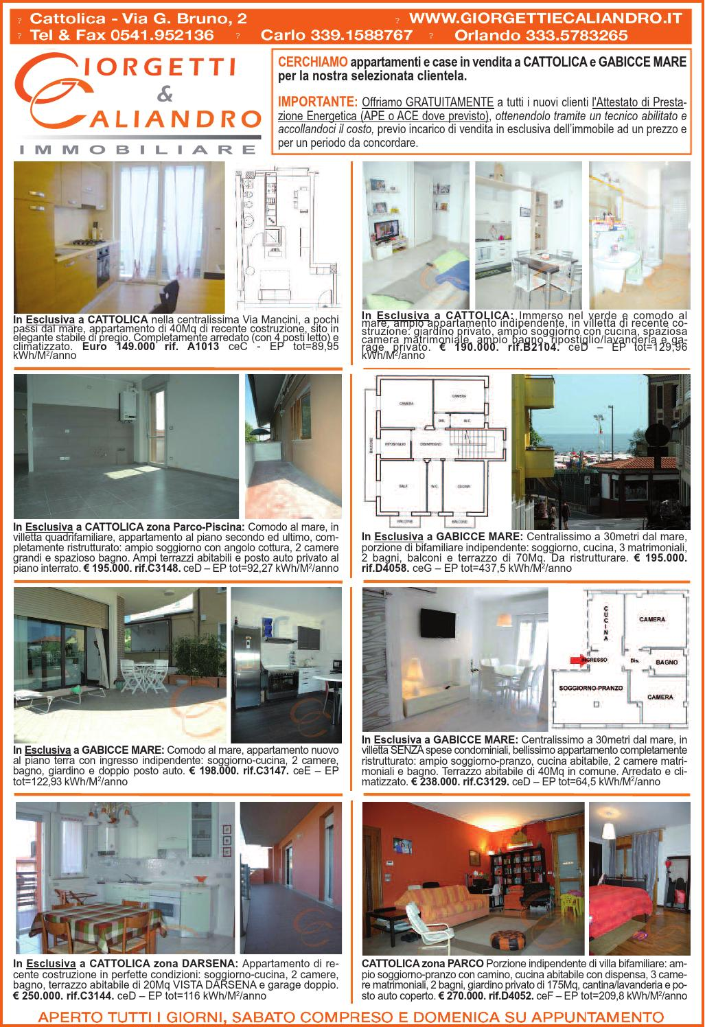 Appartamenti In Vendita A Cattolica Rn E Gabicce Mare