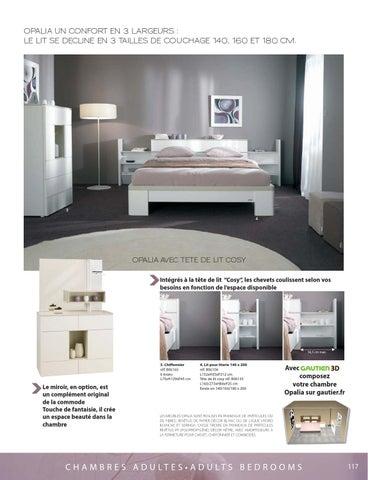 opalia un confort en 3 largeurs le lit se decline en 3 tailles de couchage 140 160 et 180 cm - Lit Gautier