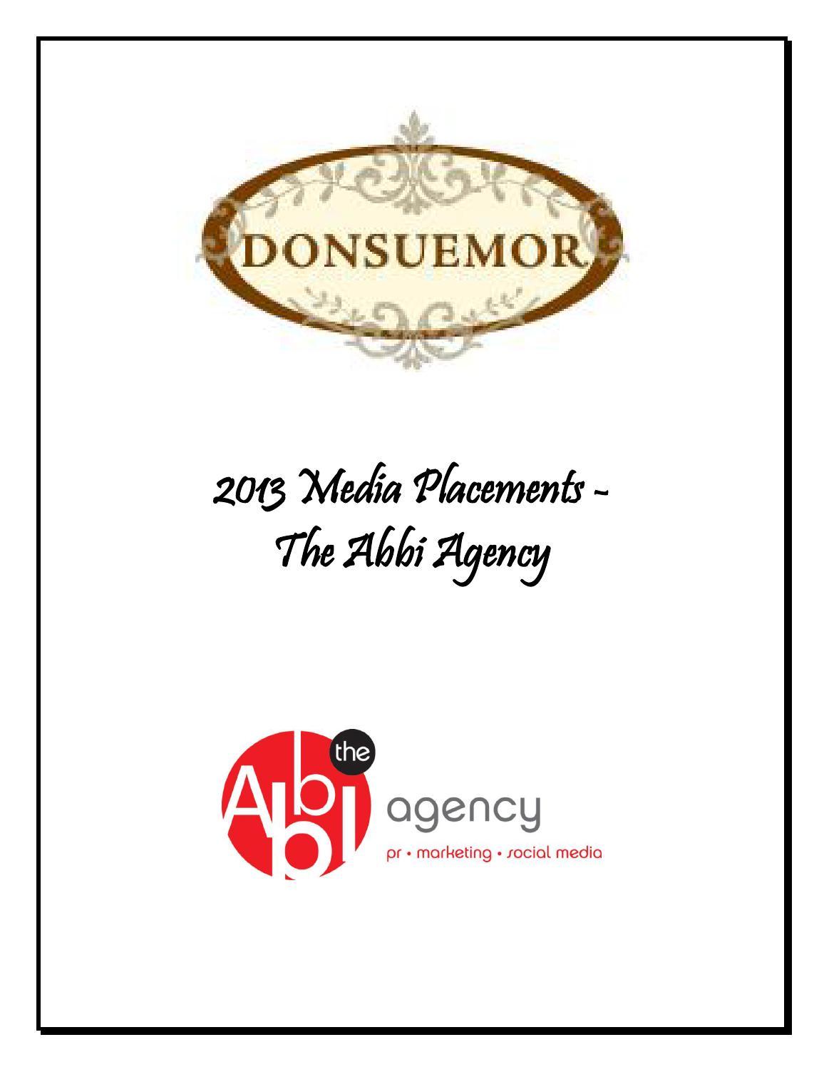 2013 Donsuemor Media Placements