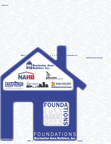 Foundations July August 2013 By Rochester Area Builders Inc Issuu