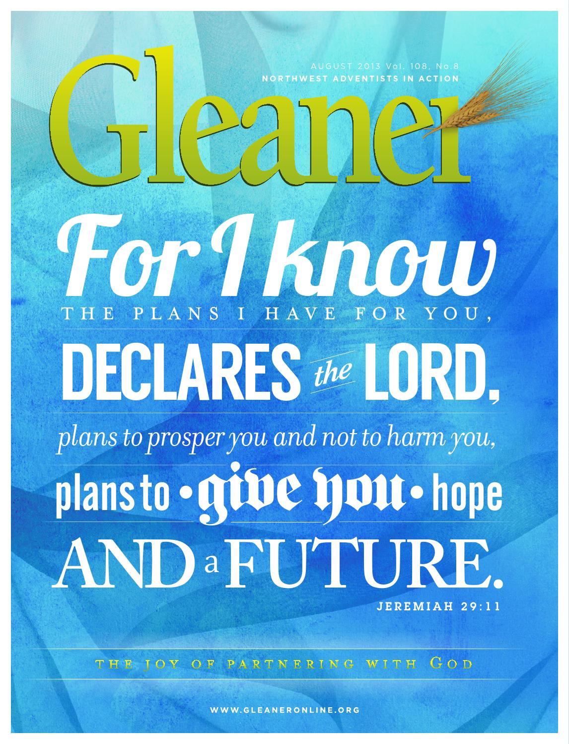 Gleaner – August 2013 by Gleaner - Northwest Adventists in