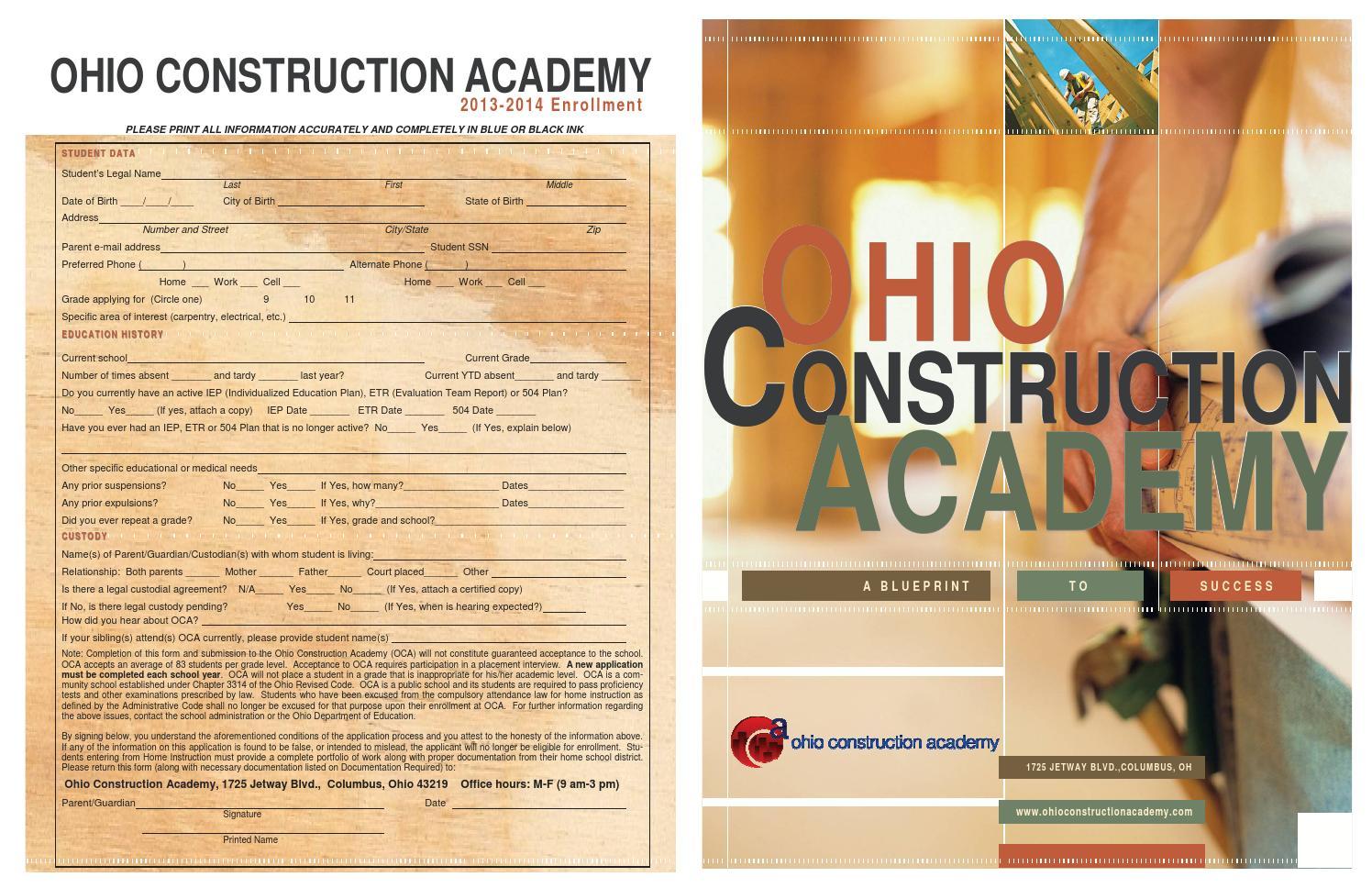 Oca brochure application by ohio construction academy issuu malvernweather Images