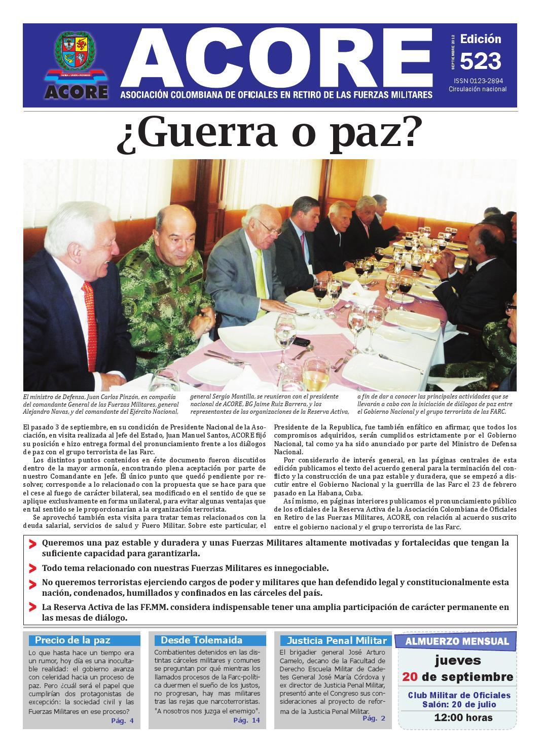 Periódico edición 523 septiembre 2012 by ACORE - issuu 4bb2aa3e687
