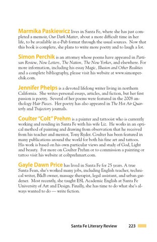 Santa Fe Literary Review By Santa Fe Community College Issuu