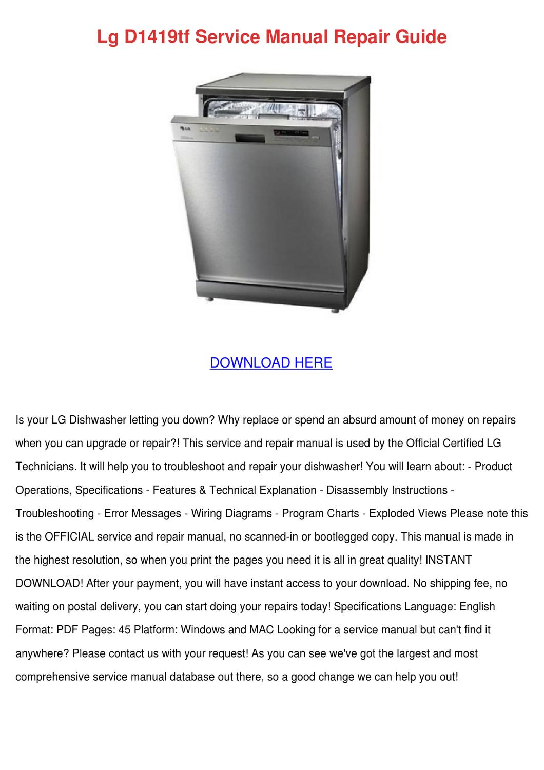 Lg D1419tf Service Manual Repair Guide by JeffereyHandley - issuu
