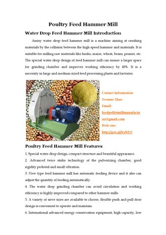 Poultry feed hammer mill by Yvonne - issuu