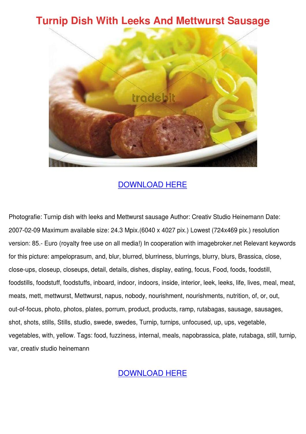 how to cook mettwurst sausage