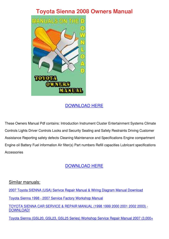 Toyota Sienna Wiring Diagram Also 2008 Toyota Sienna Wiring Diagram