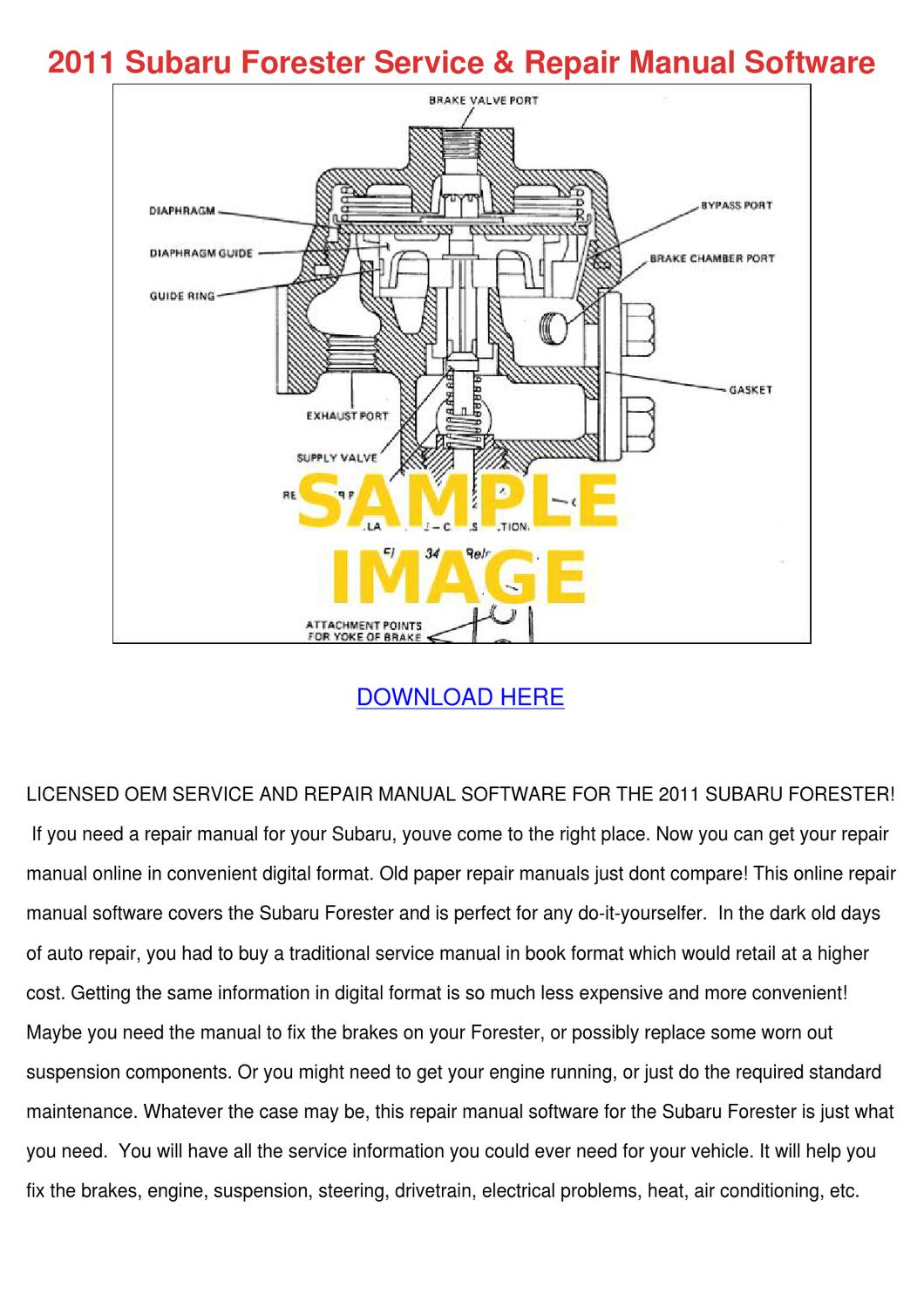 2011 Subaru Forester Service Repair Manual So by NormaOlds - issuu