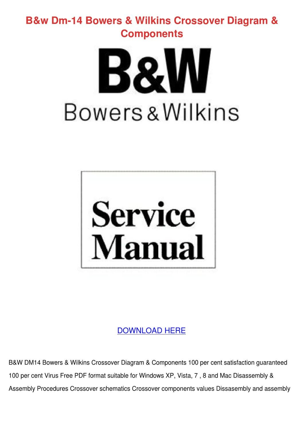 Bw Dm 14 Bowers Wilkins Crossover Diagram Com By