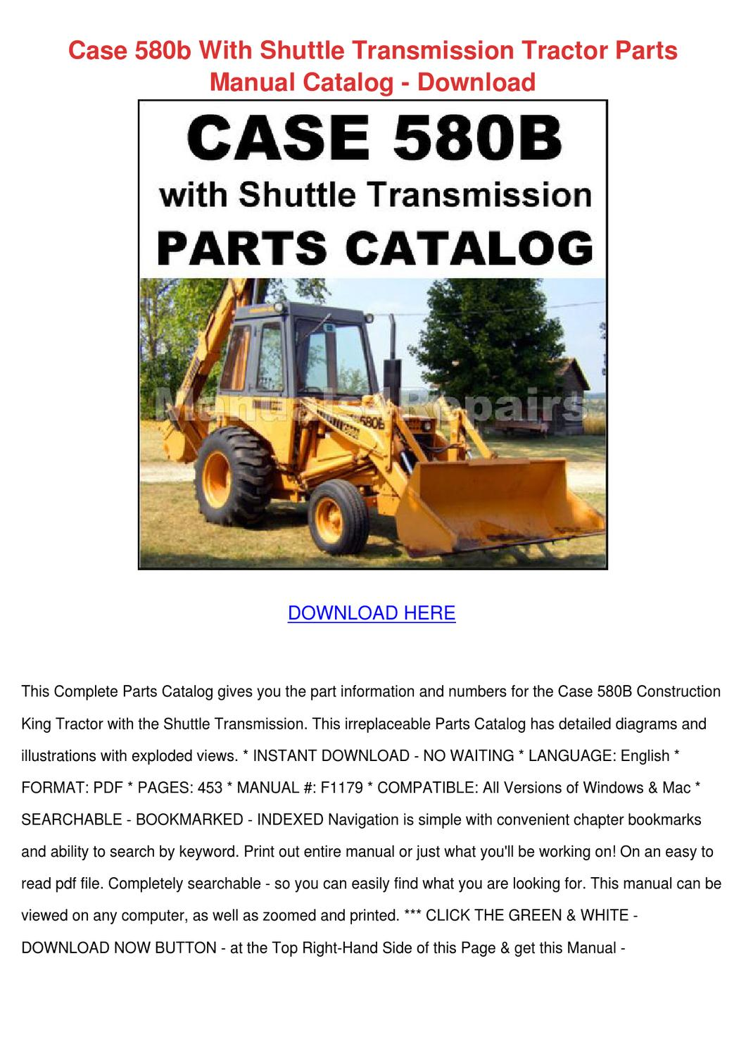 Case 580b With Shuttle Transmission Tractor P By