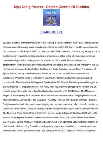 Mp3 Craig Pruess Sacred Chants Of Buddha by AntwanAkers - issuu