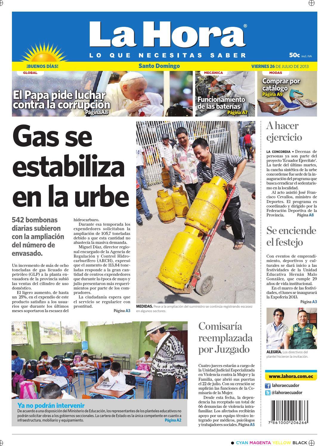 huge discount 7c2a5 8335f Santo Domingo 26 de julio de 2013 by Diario La Hora Ecuador - issuu