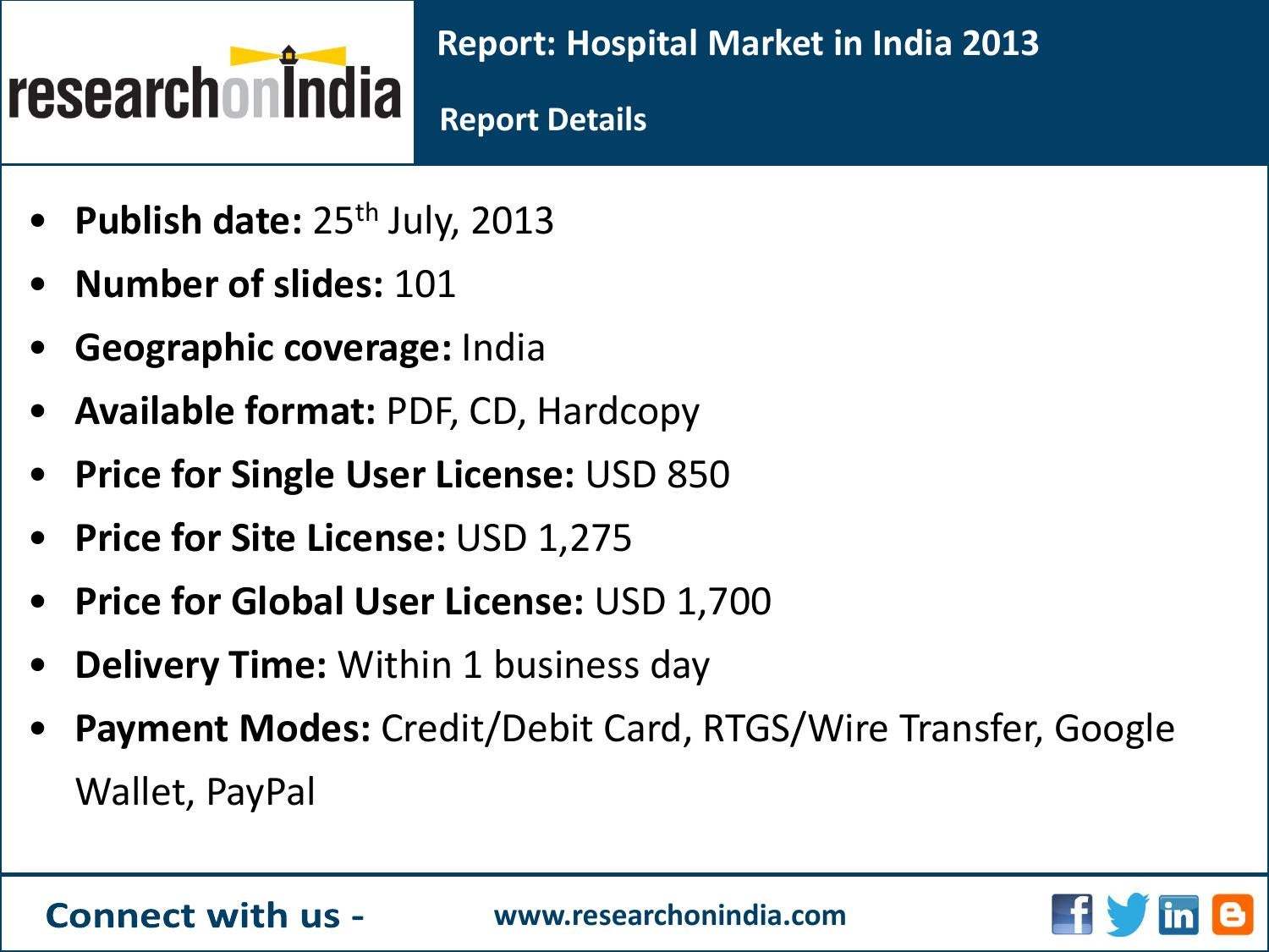 India Market Research Report : Hospital market in india 2013