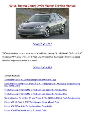 02 06 toyota camry xv30 master service manual by brycebernal issuu rh issuu com