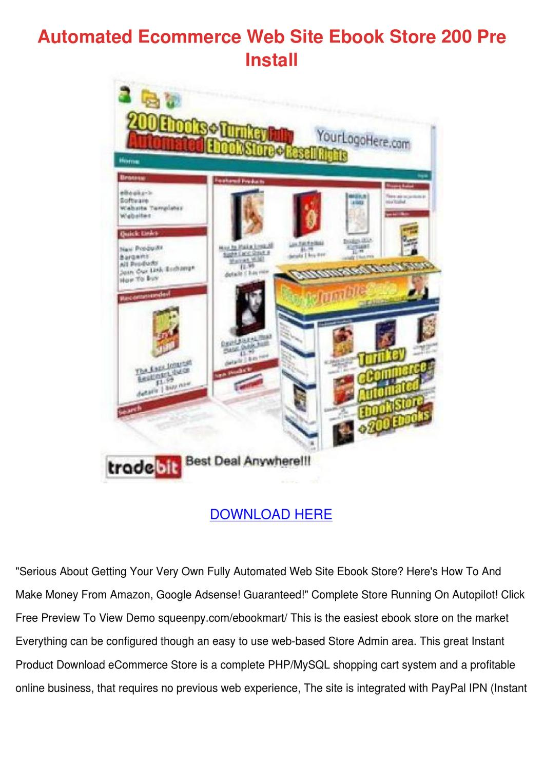 Automated Ecommerce Web Site Ebook Store 200 by BryceBernal - issuu