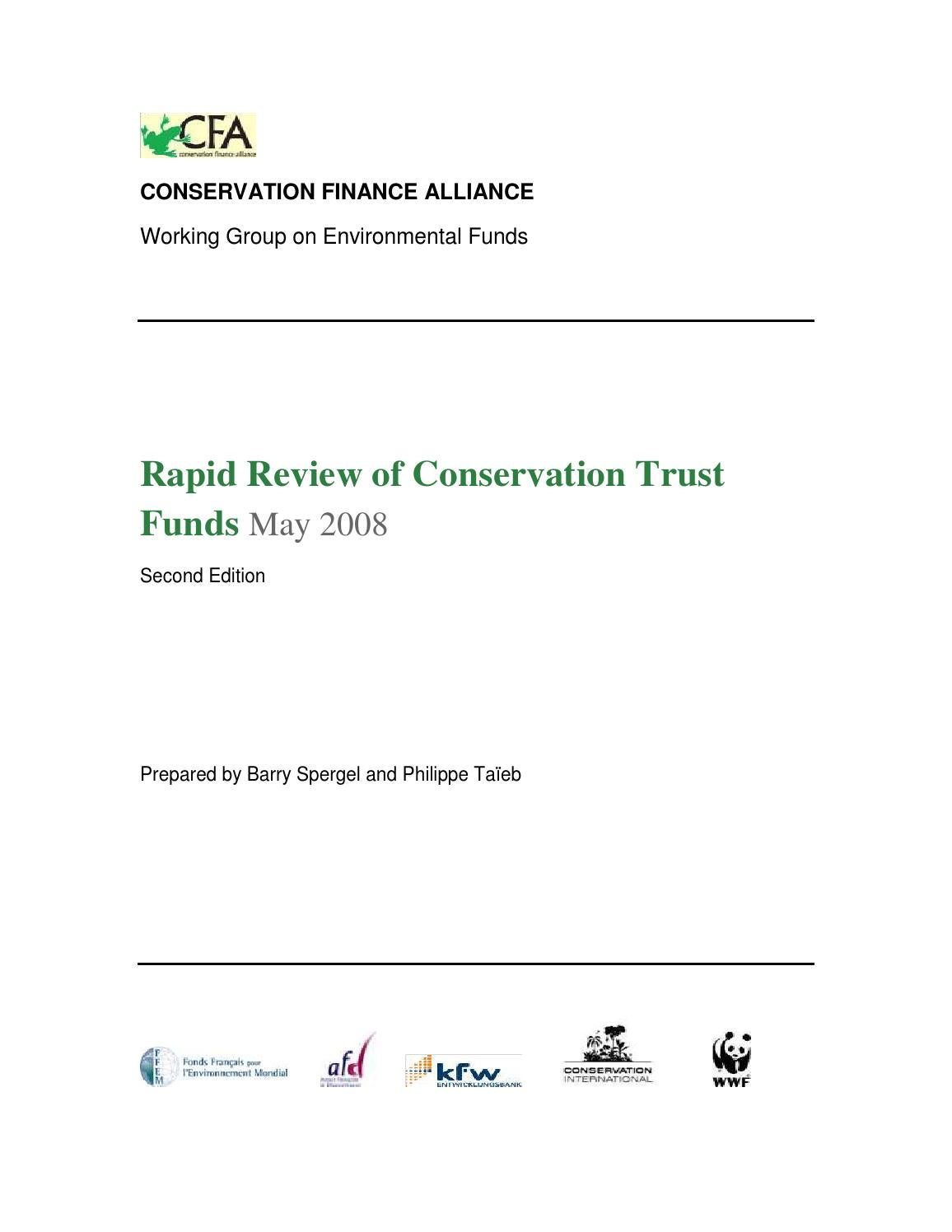 Conservation Trust Fund Executive Summary 2008 By Agence
