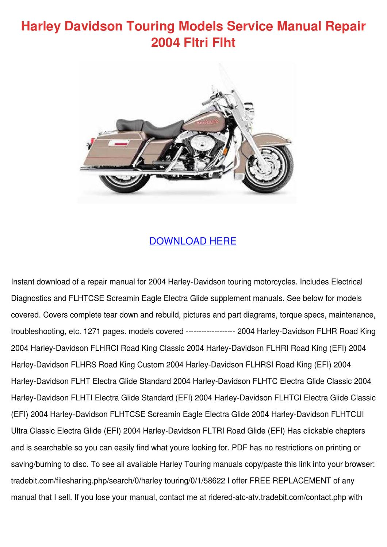 Harley Davidson Touring Models Service Manual By Irvinchen Issuu Flhtp Starter Wiring Diagram