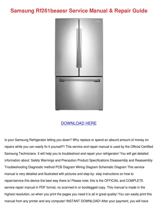 Samsung Rf261beaesr Service Manual Repair Gui by GayErickson - issuu