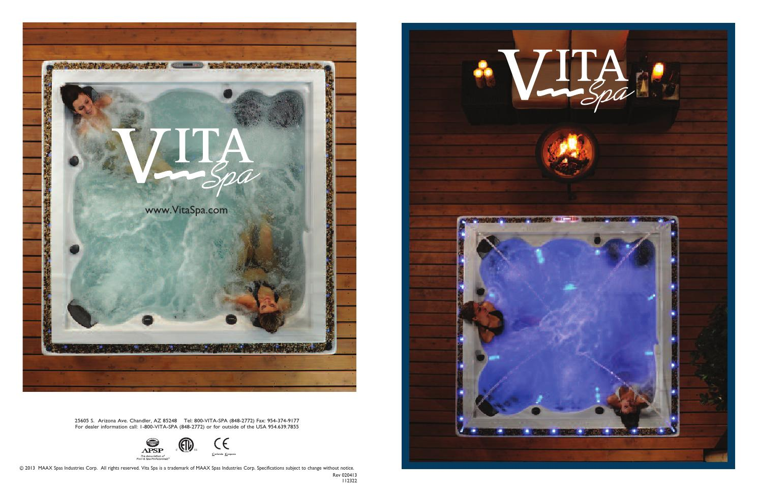 Vitaspa Hot Tubs & Swim Spas by Pool Pro - issuu