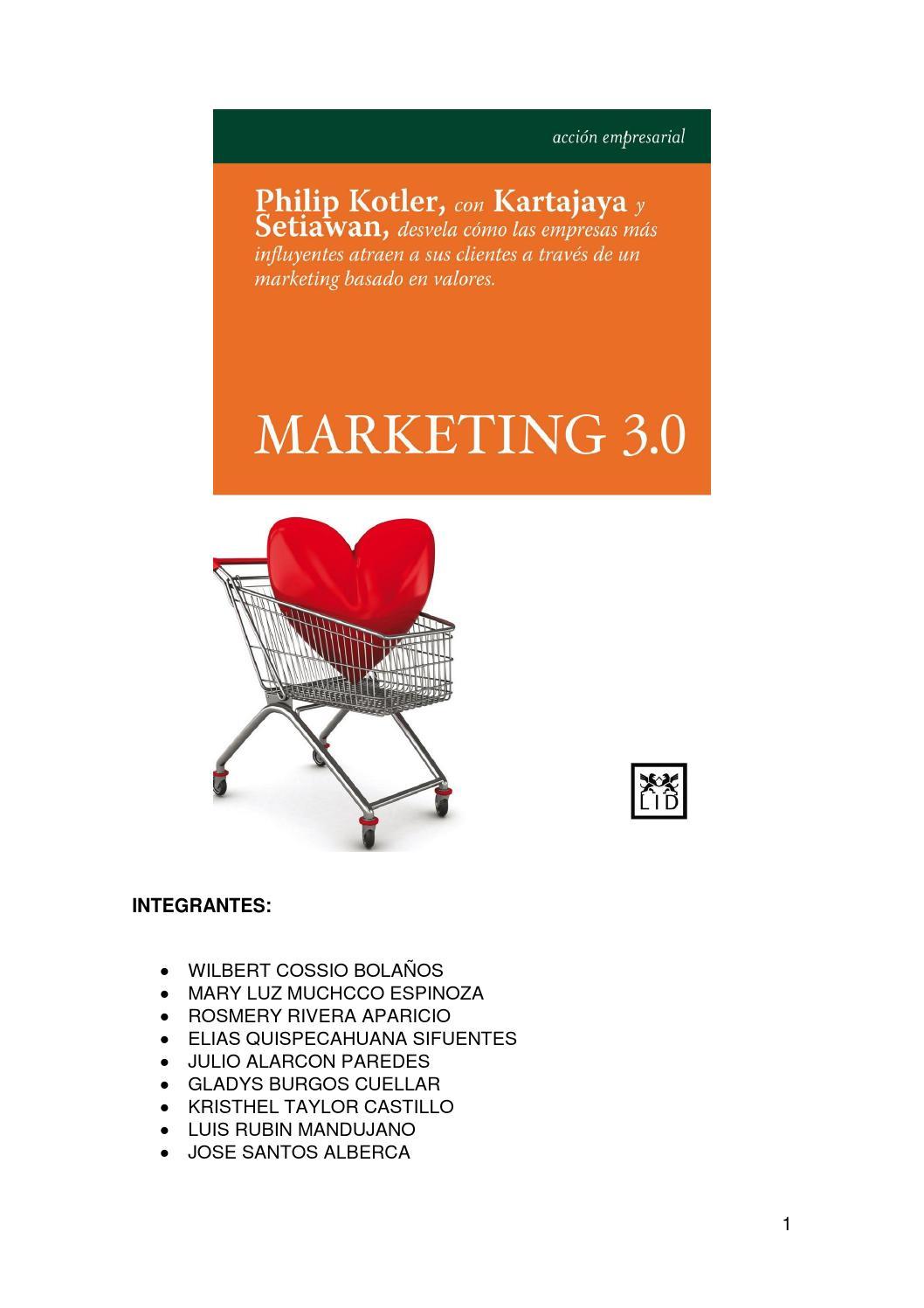 Marketing 3 0 kotler by Elias - issuu