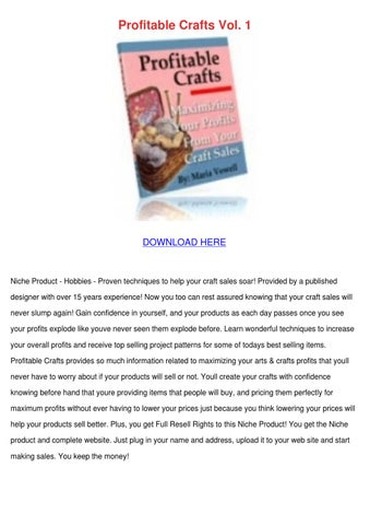 Profitable crafts vol 1 by bradleybarnhill issuu for Profitable crafts