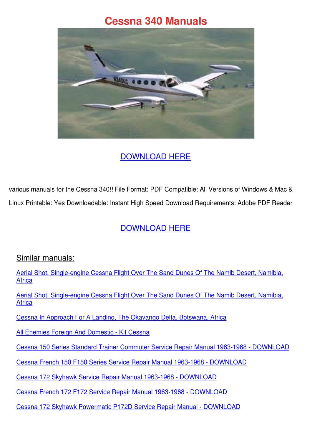 Cessna 340 Manuals by EdisonCrespo - issuu