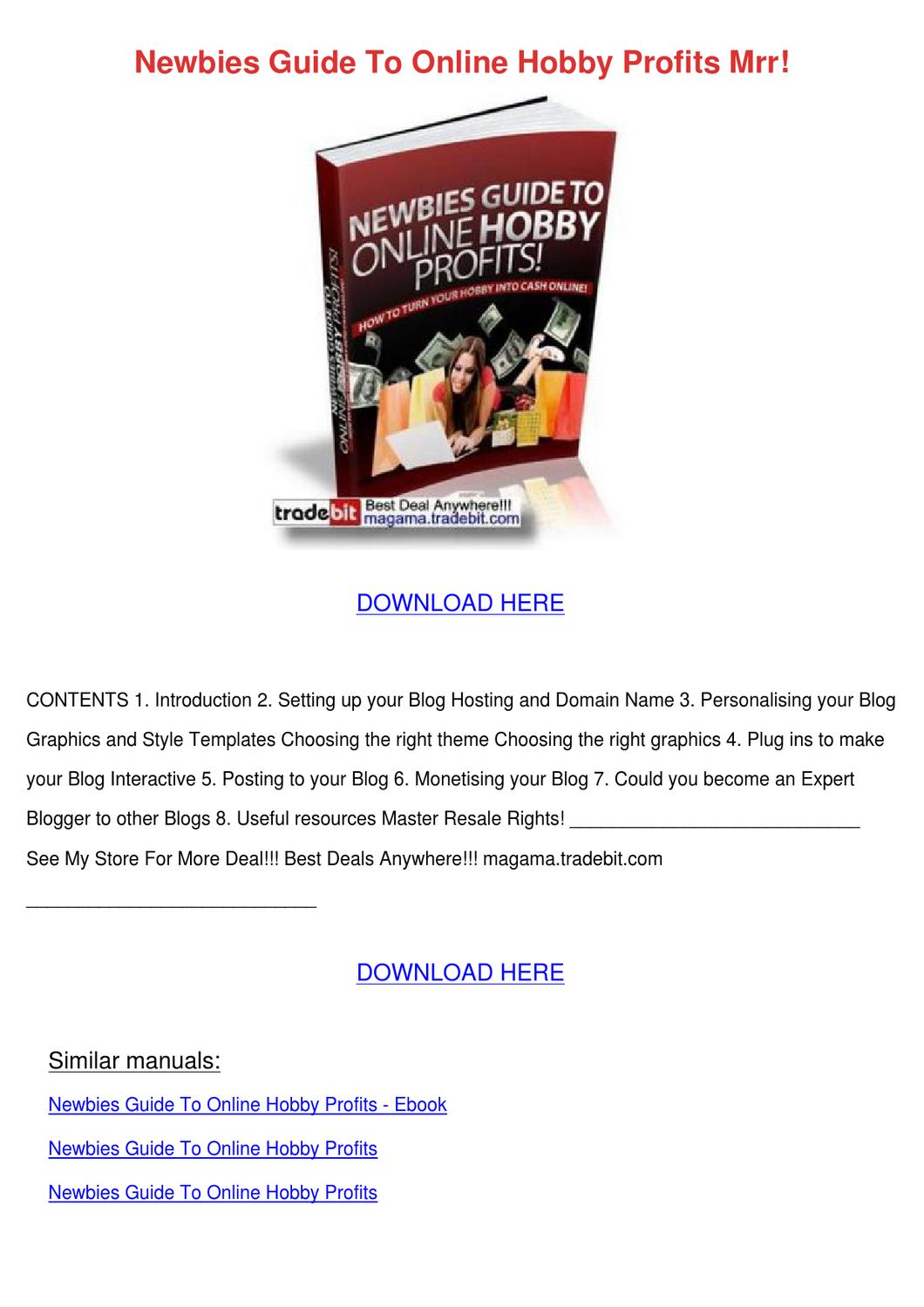 Hobby blogging mrr array newbies guide to online hobby profits mrr by krisjeffrey issuu rh issuu fandeluxe Image collections