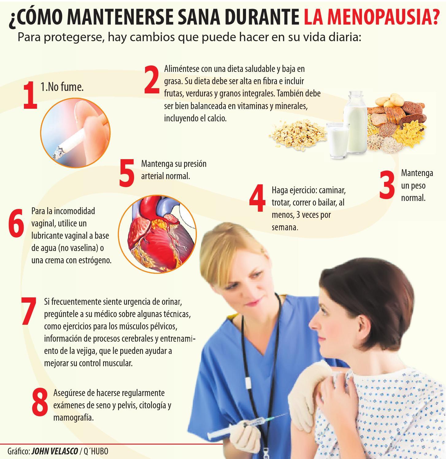 Menopausia ejercicios para la