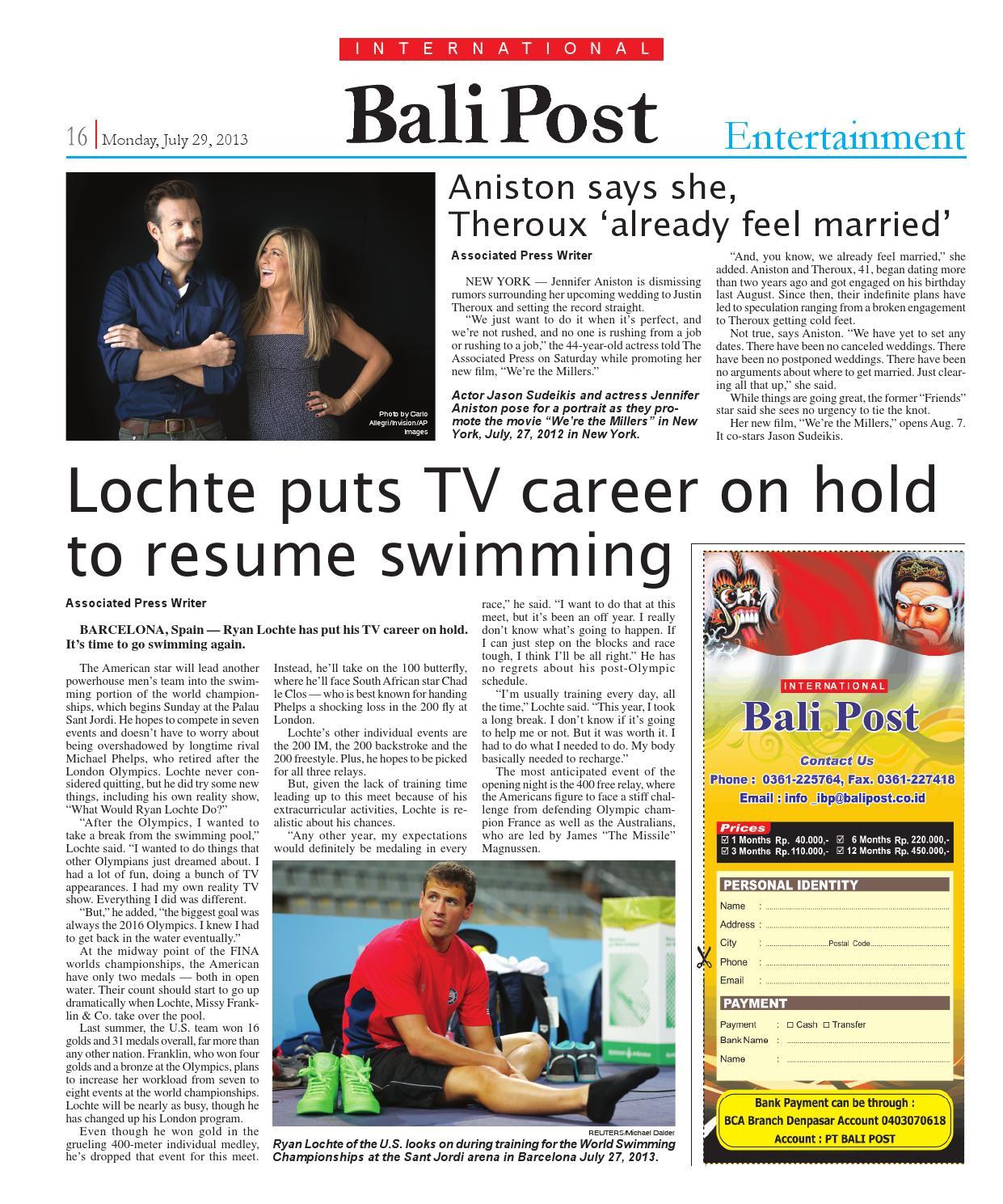 Edisi 29 Juli 2013 International Bali Post By E Paper Kmb Issuu