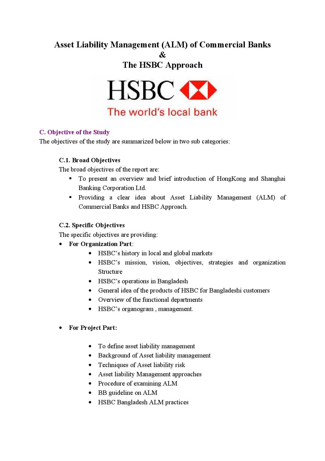 mission vision and objectives of hsbc bank Hsbc holdings vision: we aspire to be one of the world's great specialist banking groups, driven by commitment to our core philosophies and values mission: t.