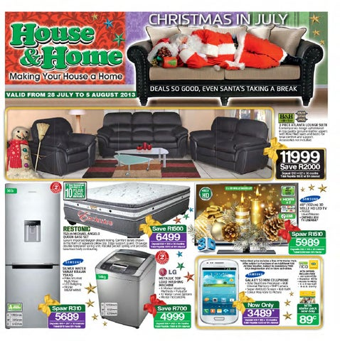 House U0026 Home Catalogue Validity 28 July 5th August 2013