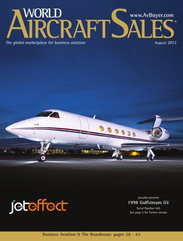 9a49a3dd968 World Aircraft Sales Magazine August 2013 by AvBuyer Ltd. - issuu