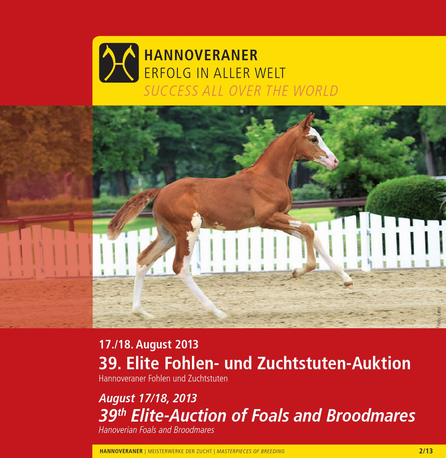 39. Elite Fohlen- und Zuchtstuten-Auktion - 39th Elite-Auction of ...