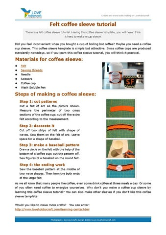 Felt Coffee Sleeve Tutorial
