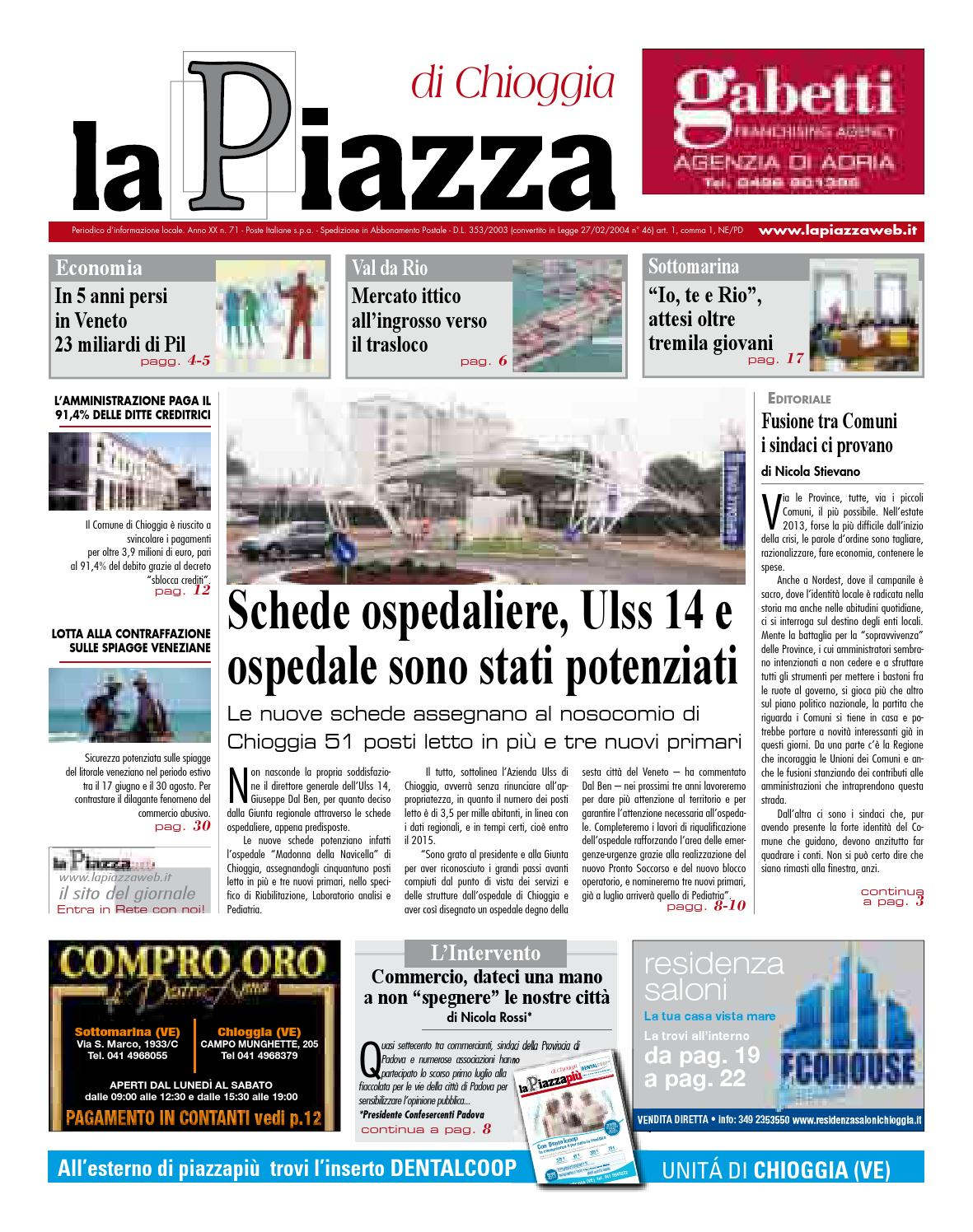 Chioggia Giu2013 N73 By Lapiazza Give Emotions Issuu