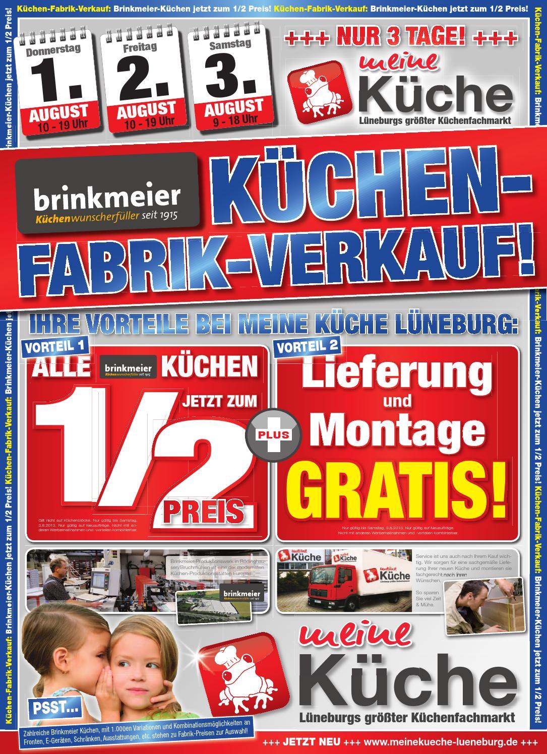 brinkmeier fabrikverkauf bei meine k che l neburg by thomas brandt issuu. Black Bedroom Furniture Sets. Home Design Ideas