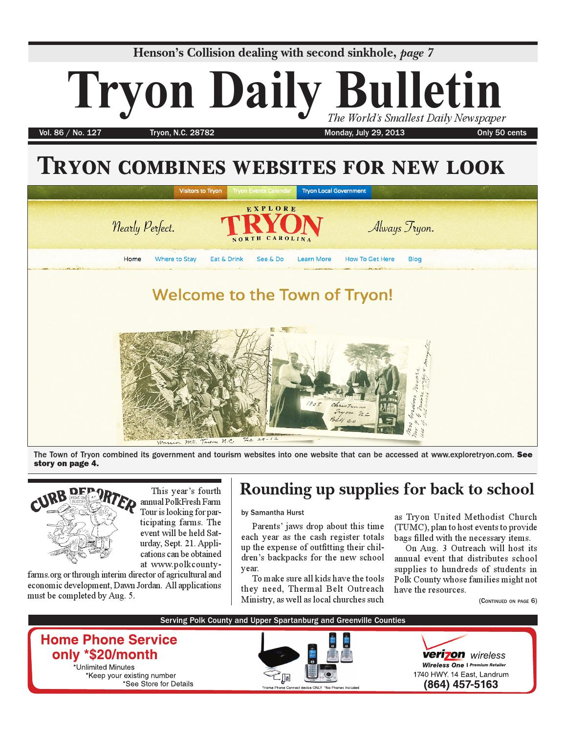 20130729 by Tryon Daily Bulletin - issuu