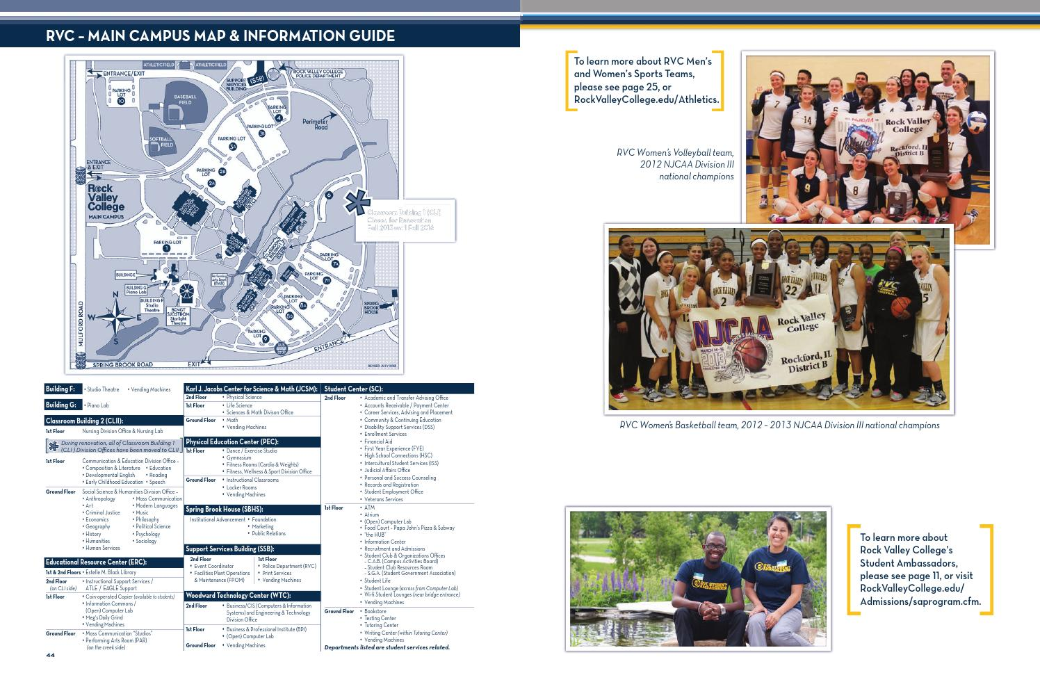 Rvc Campus Map.Rock Valley College Student Handbook 2013 14 By Rock Valley