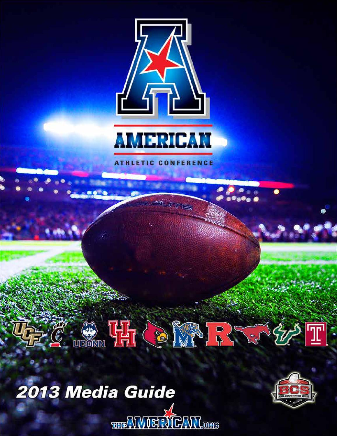 2013 american athletic conference football media guide by american athletic conference issuu - Football conference south league table ...