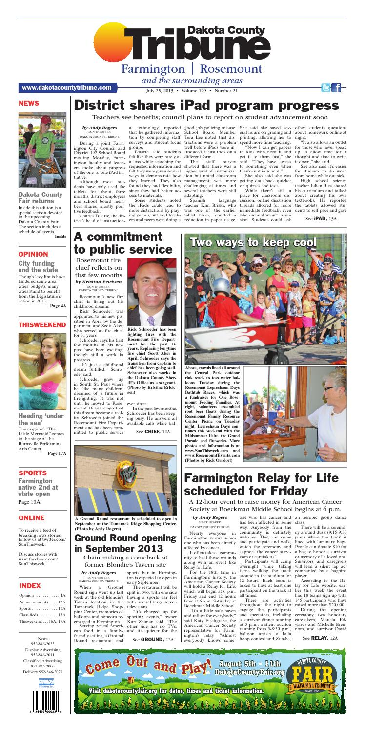 Dct fr 7 26 13 by Dakota County Tribune - issuu